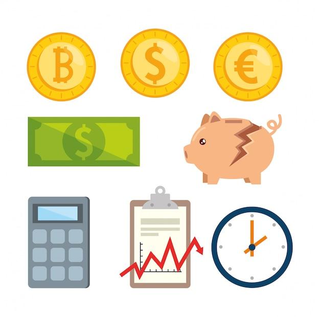 Conjunto de elementos de economia