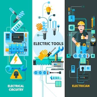 Conjunto de elementos de eletricidade