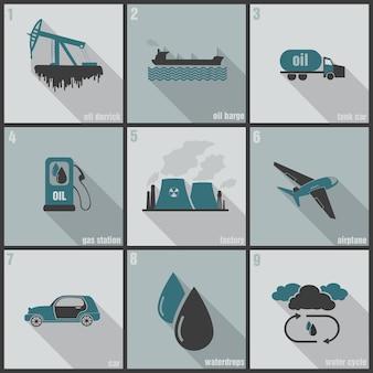 Conjunto de elementos de energia renovável