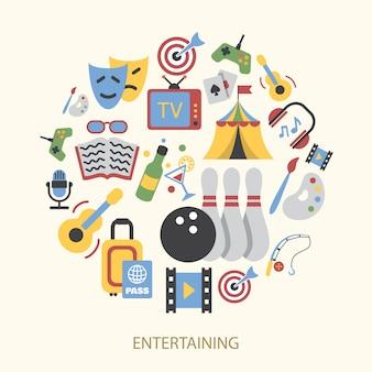 Conjunto de elementos de entretenimentos