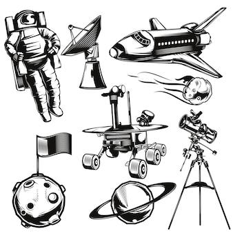 Conjunto de elementos de espaço