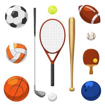 Conjunto de elementos de esporte