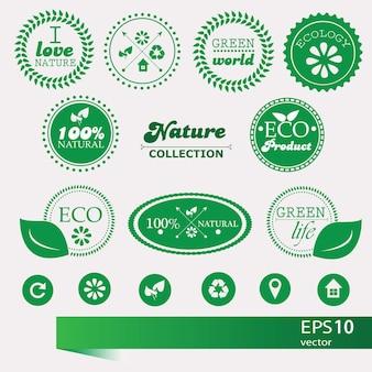 Conjunto de elementos de estilo vintage para ícones, etiquetas e emblemas - vetor