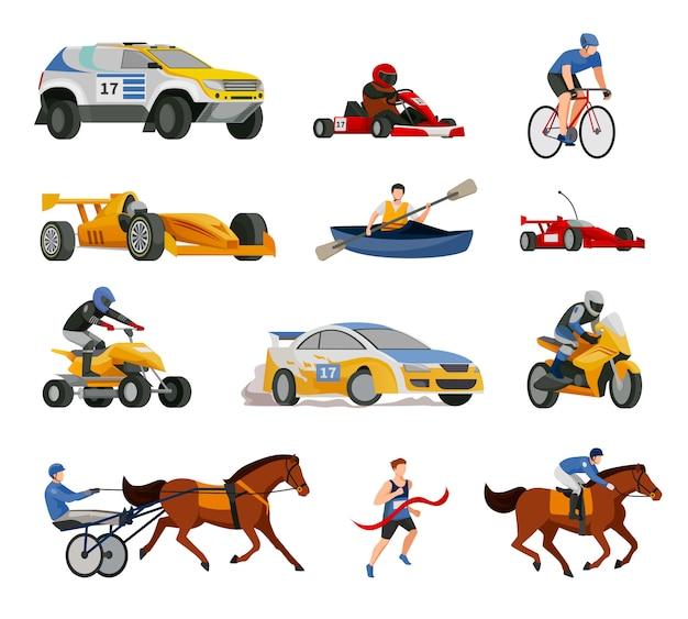 Conjunto de elementos de evolução de corrida