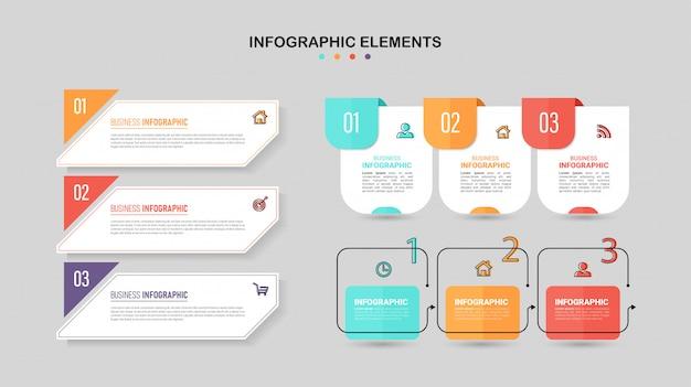 Conjunto de elementos de infográfico.