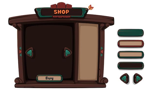 Conjunto de elementos de interface do usuário para jogos e aplicativos em 2d