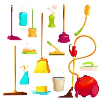 Conjunto de elementos de limpeza