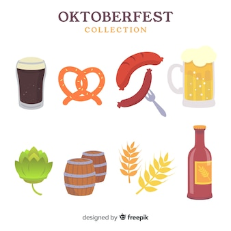 Conjunto de elementos de oktoberfest