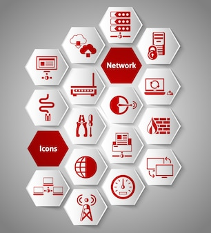 Conjunto de elementos de rede