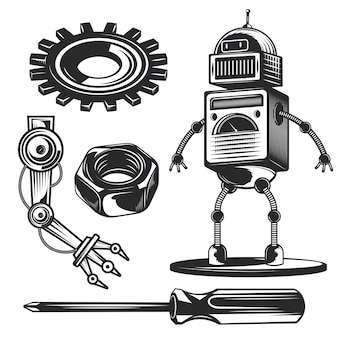 Conjunto de elementos de robô