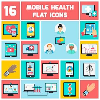 Conjunto de elementos de saúde móvel