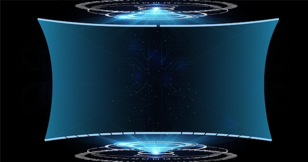 Conjunto de elementos de tela de interface de usuário futurista de hud, iu, gui. projeto de conceito de ficção científica.