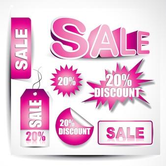 Conjunto de elementos de venda