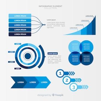 Conjunto de elementos diferentes infográfico