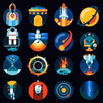 Conjunto de elementos do espaço
