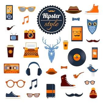Conjunto de elementos do hipster