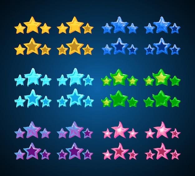 Conjunto de elementos do jogo estrela