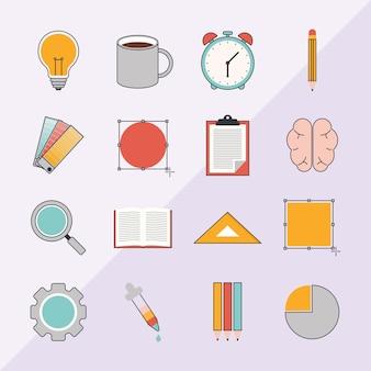 Conjunto de elementos do processo criativo