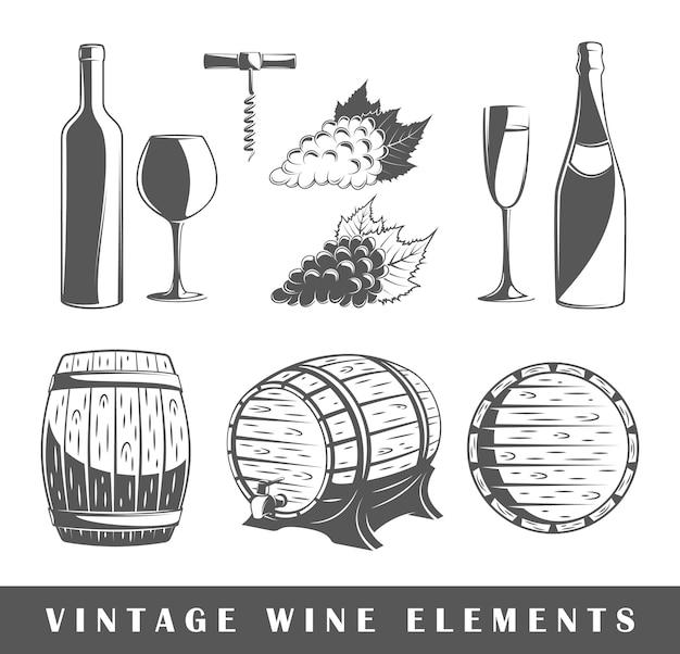 Conjunto de elementos do vinho