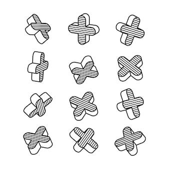Conjunto de elementos em estilo pop art.