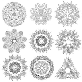 Conjunto de elementos geométricos abstratos e formas