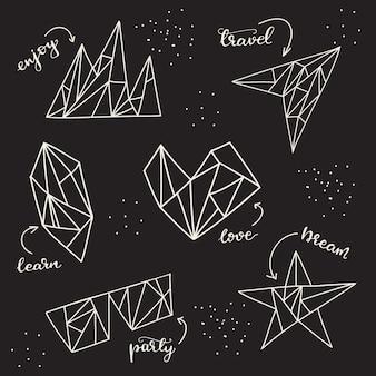 Conjunto de elementos gráficos. ilustração do vetor.
