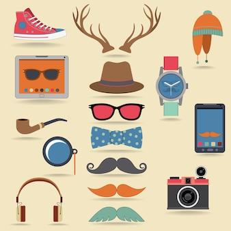 Conjunto de elementos hipster