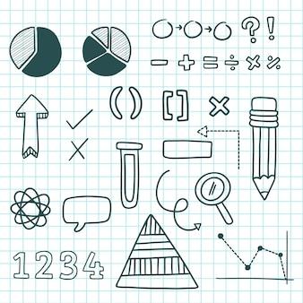 Conjunto de elementos infográficos para aulas na escola