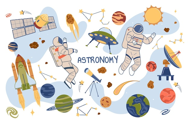 Conjunto de elementos isolados do conceito de astronomia