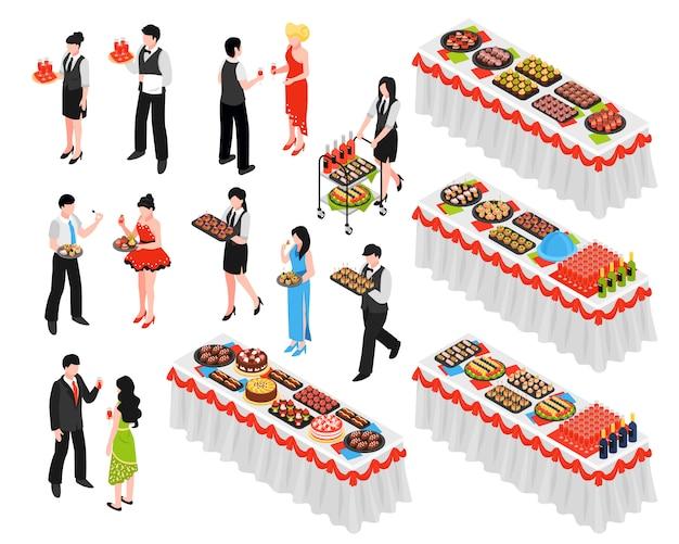 Conjunto de elementos isométricos de banquete