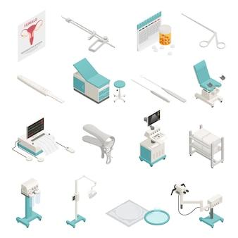 Conjunto de elementos isométricos de ginecologia
