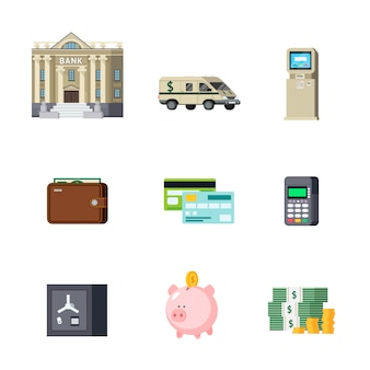 Conjunto de elementos ortogonais bancários