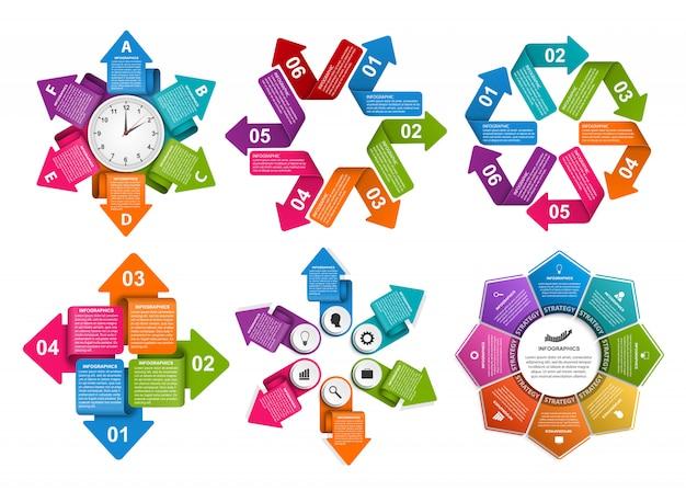 Conjunto de elementos para infográfico