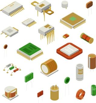 Conjunto de elementos semicondutores