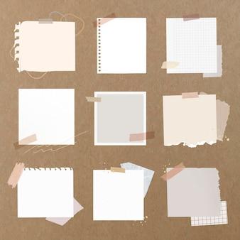 Conjunto de elementos vetoriais de notas digitais, pacotes de adesivos digitais femininos