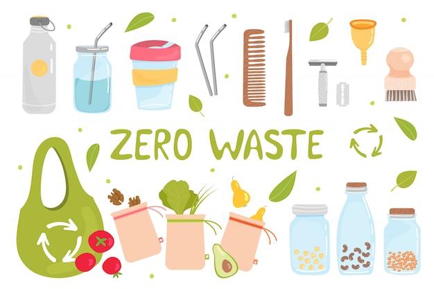 Conjunto de elementos zero waste