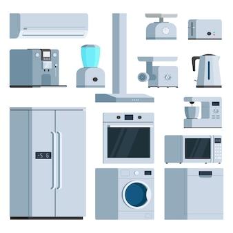 Conjunto de eletrodomésticos de cozinha
