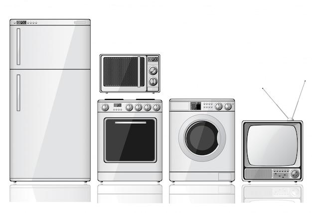 Conjunto de eletrodomésticos
