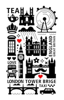 Conjunto de emblema da cidade de londres.