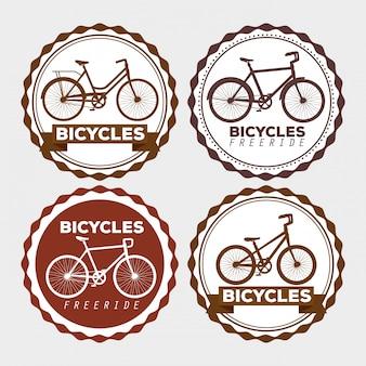 Conjunto de emblema de bicicleta