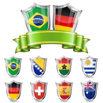 Conjunto de emblema de futebol