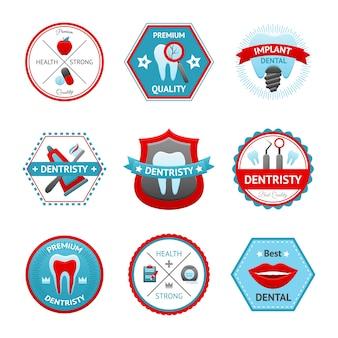 Conjunto de emblema dental