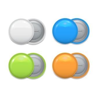 Conjunto de emblemas coloridos