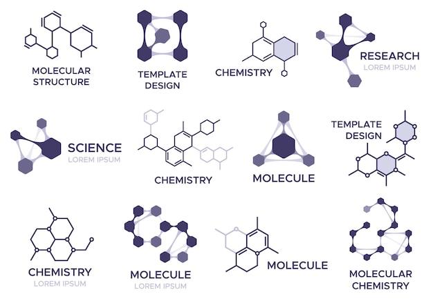 Conjunto de emblemas da molécula.