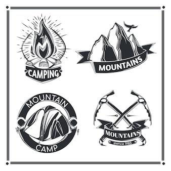 Conjunto de emblemas de acampamento