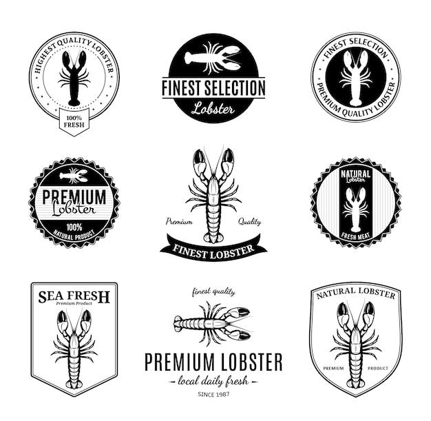 Conjunto de emblemas de churrasco e elementos de design