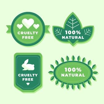 Conjunto de emblemas de crueldade