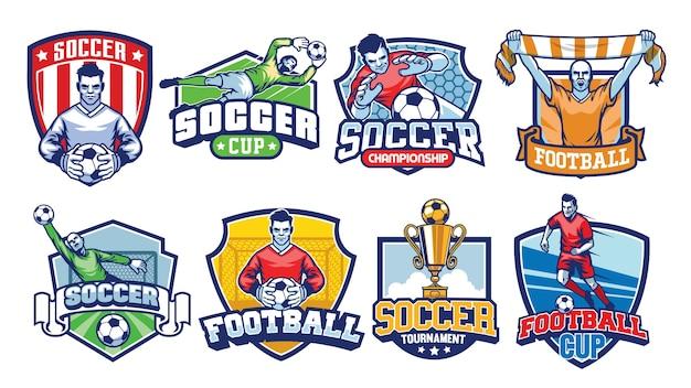 Conjunto de emblemas de futebol
