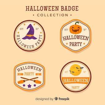 Conjunto de emblemas de Halloween