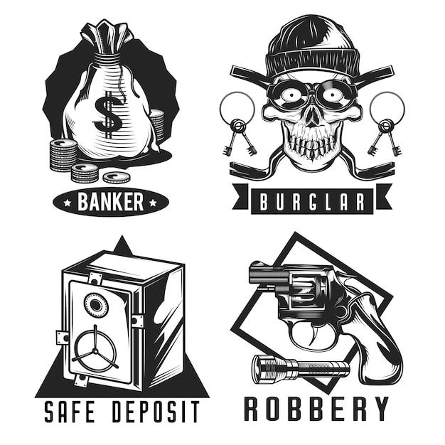Conjunto de emblemas de ladrão